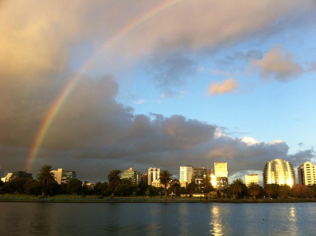 Rainbow over Melbourne