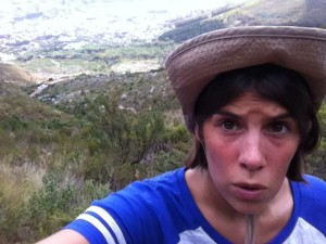 Me hiking up Table Mountain